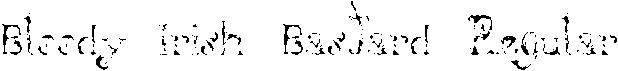 Bloody Irish Font