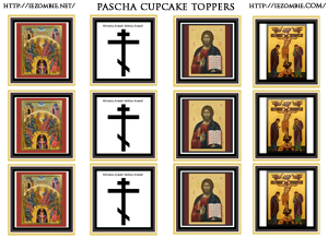 Eastern Orthodox Icons Cupcake Toppers